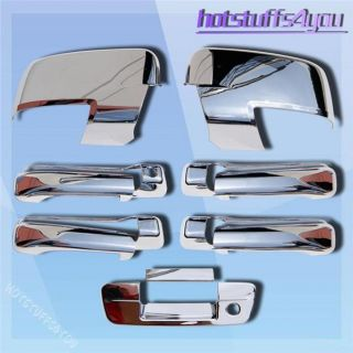 2009 2012 Dodge RAM Chrome Rear View Side Mirror 4 Door Handle Tailgate Covers