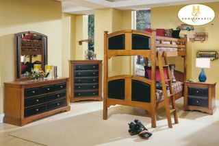 New Cottage Black Cherry Wood Twin Bunk Bed Beds Youth
