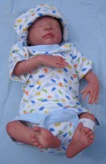 Beautiful Reborn Baby Doll Caleb OOAK by Heather Boneham Must See Really Cute