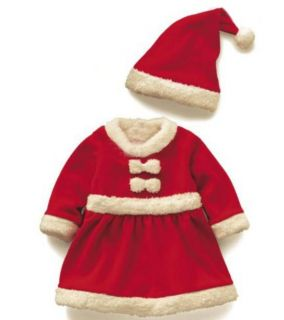 Baby Girl Mrs Santa Dress with Hat Christmas Outfit Xmas Costume 6mths 3 Yrs