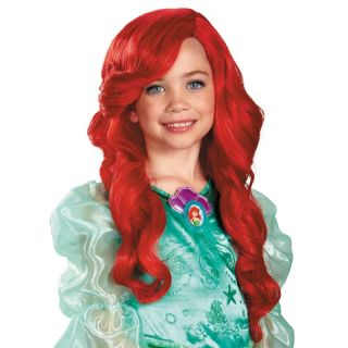 Child Kids Disney Princess Movie The Little Mermaid Ariel Red Hair Costume Wig