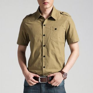 Mens Short Sleeve Cotton Shirts
