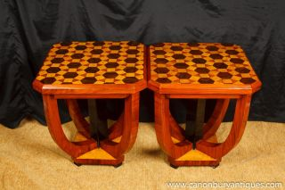 1920s Art Deco Side Tables Inlay Furniture Cocktail