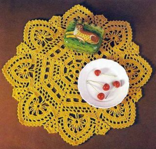 Doily Table Crochet Patterns Pillow Place Mat Edging