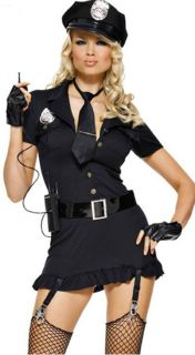 Sexy Police Woman Cop Outfit Costume Halloween Fancy Dress Cosplay Partywear Hot