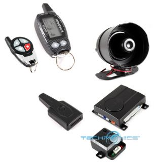 Crime Guard 750I7 2 Way Car Security Alarm Keyless Entry System w 2 Pagers