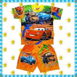 McQueen Disney Cars 2 Outfit Set Age 1 7 Years Baby Kids Boys Clothes Top Shorts