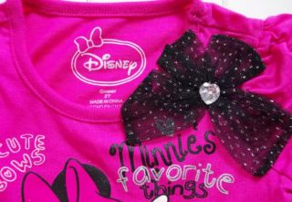 Girls Minnie Mouse Long Sleeve Top Pants Fancy Costume Dress Up Outfit Sz 2 4Y