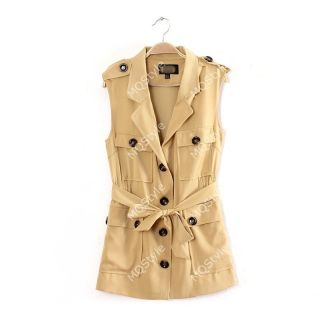 New Womens European Fashion Single Breasted Leopard Print Vest Coat Jacket B2646