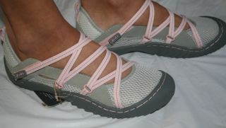 New Jeep J 41 Genesis Vegan Women's Mary Jane Trail Hiking Water Shoes Gray Pink