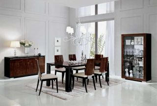 Contemporary Stromboli ALF Group Italian Dining Table with 6 Chairs Set Modern