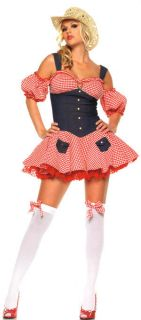 Sexy Costume Fancy Dress Up Western Cowgirl School Girl Halloween Outfit 10 14