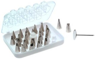 Wilton 28 Piece Deluxe Cake Decorating Icing Frosting Piping Bag Tip Set New
