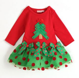 2014 Baby Girls Christmas Clothes Dress Xmas Holidays Birthday Toddles Dresses