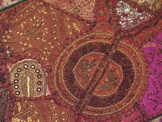Russet Indian Interior Decor Furnishing Textile Wall Hanging Art Home Decoration