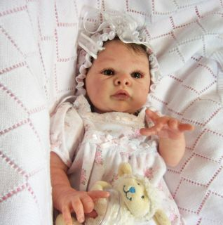 Beautiful Reborn Little Baby Girl Doll Adrie Stoete Jill Full Lower Torso
