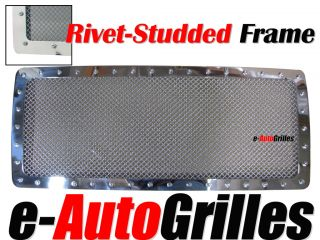 07 10 Jeep JK Wrangler Mesh 2mm Rivet Billet Grille Chrome Stainless Steel