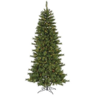 9' Pre Lit Slim Newport Mixed Pine Christmas Tree Clear