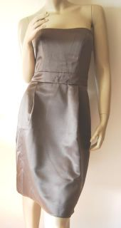 Jim Hjelm Size 10 4 s Short Brown Satin Strapless Cocktail Dress New Years Eve