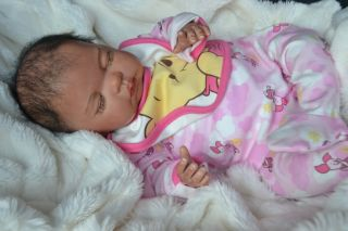 PJS♥♥ Molly Marie ♥♥ Adorable Ethnic AA Bi Racial ♥♥ Newborn Reborn Baby Girl ♥♥