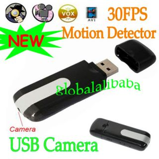 Mini USB Flash Drive Spy Camera Covert Hidden Cam DVR