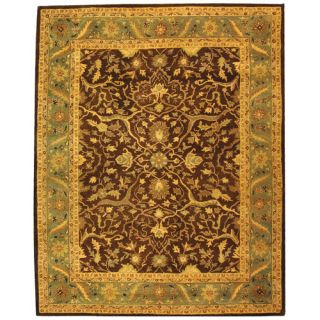 safavieh antiquities brown green rug