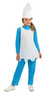 Smurfette Costume Girls Fancy Dress Outfit The Smurfs Kids Child