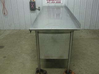 "94"" x 30"" Heavy Duty Stainless Steel Cabinet Work Prep Table 8'"