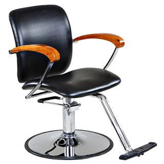 New Black Salon Styling Chair with Round Base SC 20