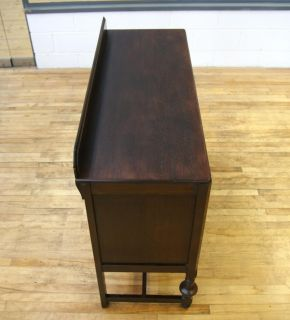 Solid Oak Sideboard Buffet Cabinet Antique Vintage Art Deco