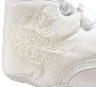 New Baby Infant Toddler Girls Boys White Christening Birthday Shoes Sz Size 3