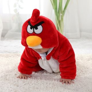 "Cute Kids Boys Girls Winter Snowsuit Fleece Hoodie Jumpsuit Outwear""Cozy Bird"""
