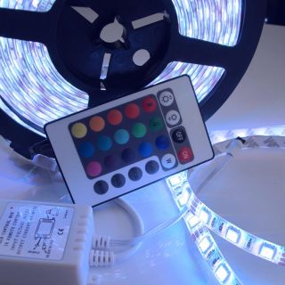 Brand New 5M Waterproof RGB SMD 5050 300 LED Strip 24 IR Remote Hot Sale