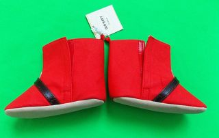 Old Navy Cute Fashion Baby Girl's Red Holiday Boot Size 18 24 Months