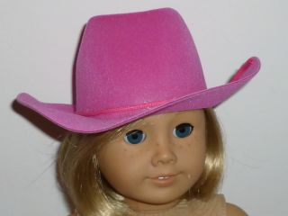 "Fits 18"" Play Doll Clothes Western Cowgirl Pink Cowboy Hat"