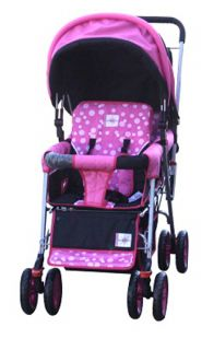 Double Stroller Baby Strollers Pink Bebelove 2 Seats Multiple Multi Twin New