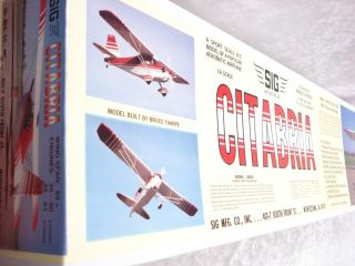 New Sig Citabria R C Model Airplane Kit New