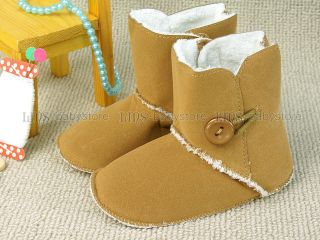 New Toddler Baby Girl Boy Brown Boots Shoes Size 3 A803