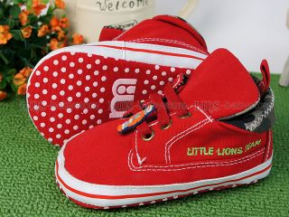 New Toddler Baby Boy Red Casual Shoes UK Size 4 A991