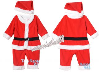 Girls Boys Kids Baby Toddler Xmas Christmas Suits Santa Jumpsuits Cosplay