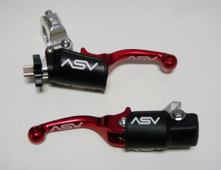 ASV F3 Shorty Red Brake Clutch Levers Kit Pair Pack Honda CRF250R CRF450R