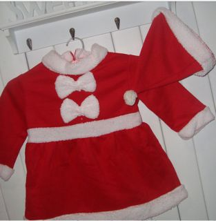 Christmas Outfits Set Baby Girls Headwear Dress 2pc Set Party New Year Clothing