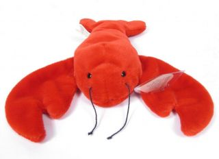 Candy Spelling's Beanie Baby Pinchers Lobster 4026 1993 1st Gen Tush Heart Tag