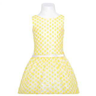 Sweet Kids Girls 6 White Yellow Flower Bow Easter Dress