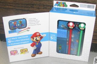 Nintendo DS Super Mario Character Case Essentials Kit 5 PC Set Brand New