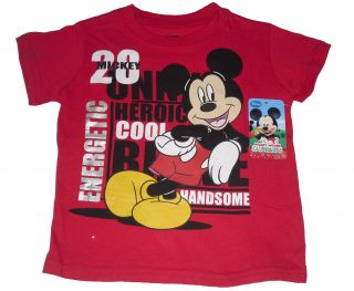 Baby Boys T Shirt Top Disney Mickey Mouse