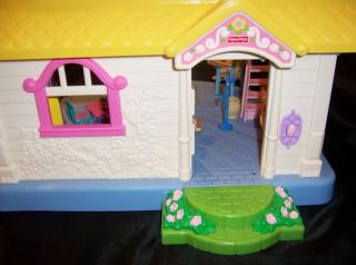 Fisher Price Little People My First Sound Dollhouse 3STORY Pink Roof House Video