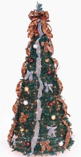 6 ft Decorated Pre Lit Collapsible Pop Up Christmas Tree 350 Lights
