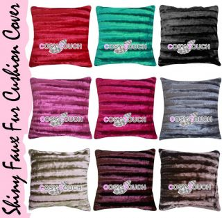 Super Soft Shiny Striped Faux Fur Throws Blanket Sofa Bed Throw 10 Colours NZ