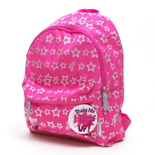 Skechers Twinkle Toes Girls Hot Pink Silver Stars Light Up Backpack